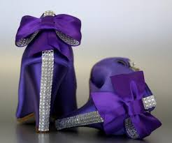 Wedding Shoes Purple Wedding Shoes Purple Peeptoe Wedges With Silver Rhinestones