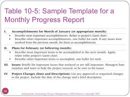 Monthly It Report Template For Management by 09 Project Communications Management