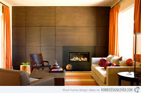 Wood Wall Living Room Home Design Ideas - Wood living room design