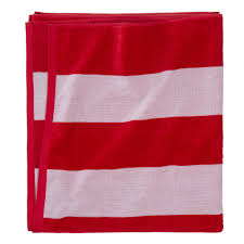 Red White Striped Flag Serena Beach Towel Red And White Striped