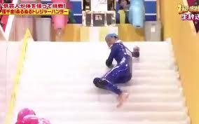 this insane japanese game show called u0027slippery stairs u0027 makes i u0027m