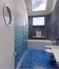corner shower box decor with mosaic blue ceramic glass tile most