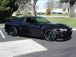 nissan skyline r34 modified file nissan skyline r34 gt r black jpg wikimedia commons