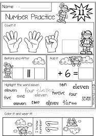 number 1 20 practice the bundle number words worksheets and