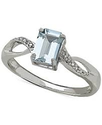 aquamarine wedding rings aquamarine engagement rings shop aquamarine engagement rings macy s