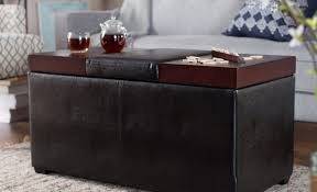round coffee table with storage rolling ottoman with storage round