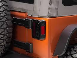 jeep jk led tail light bulb recon wrangler smoked led tail lights 264234bk 07 17 wrangler jk