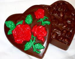 chocolate heart box chocolate heart box etsy