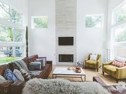 window wall yellow armchairs high ceiling my houzz horizontal