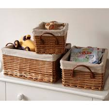 wicker basket with leather handles willow lined shallow basket with faux leather handle the holding