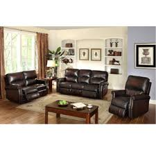 Reclining Sofa And Loveseat by Ethan Chestnut Brown Leather Reclining Sofa Loveseat And Recliner