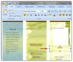 ms word brochure template create brochure in word 2007 or 2010 make brochure microsoft word