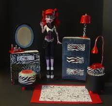 Monster High Bedroom Furniture by My Small Obsession Monster High Dollhouse Project