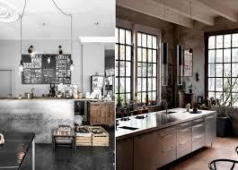 cuisine style loft industriel tabouret de bar industriel la vedette indiscutable dans la cuisine
