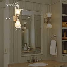 Bathroom Vanity Sconces Oak Park Two Light Linear Sconces Light Bathroom Vanity Brass