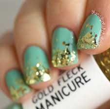kelli marissa laqa u0026 co gold fleck green manicure duo nail art