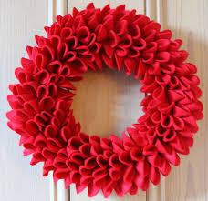 decorative felt wreath by a powell