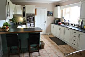 Kitchen Cabinets Black And White Remodelaholic Beautiful White Kitchen Update With Chalk Paint