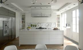 contemporary kitchen stainless steel laminate island
