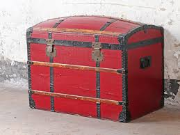 Vintage travel trunk leather travel trunk