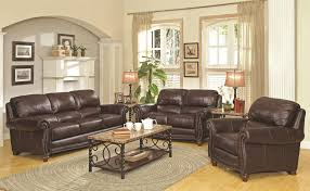 Leather Upholstery Sofa Great Genuine Leather Sofa Sets Anondale Brown Button Tuft Leather