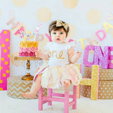 baby girl birthday glittery bow headband gold headband birthday cake smash 1st