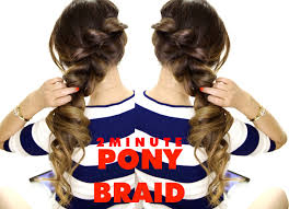 2 minute fancy ponytail braid amazingly easy hairstyle