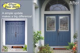 glass insert for front door we can add glass to your existing metal doors the glass door store