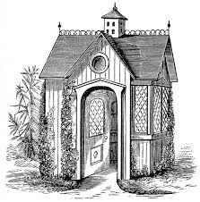 Fairy House Plans by Vintage Clip Art Victorian Garden House The Graphics Fairy