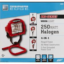 best construction work lights designers edge power light 250w halogen 4 in 1combo portable work