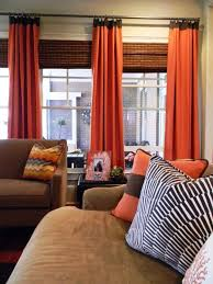 Orange And Blue Curtains Brown And Orange Living Room Curtains 1025theparty