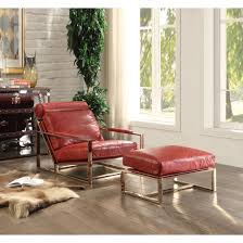 Antique Accent Chair Quinto Accent Chair In Antique Red And Stainless Steel By Acme