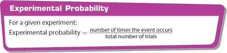 calculating experimental probability worksheet