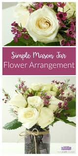 jar floral centerpieces diy jar flower arrangement with kroger roses two purple couches
