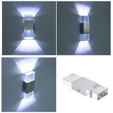 modern 4w led wall light acrylic crystal wall lamp bedroom living