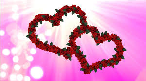 two flower animated hearts video video background for love hd