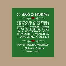 55th wedding anniversary 55th anniversary gift 1962 anniversary gift 55 years