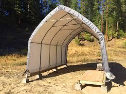 Building A Tent Platform Rv Deck Plans Platform For Our Portable Rv Garage Pure Living