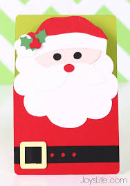 easy santa card with xyron silhouette cameo 2 s