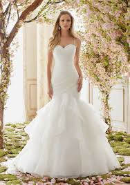 wedding dressed beaded straps on organza wedding dress style 6833 morilee
