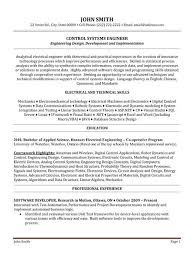 resume sles for electrical engineer pdf to excel click here to download this control systems engineer resume