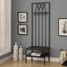 Storage Hallway Bench by Entryway Bench With Coat Rack Amazoncom Kings Brand Corner