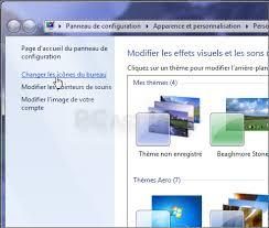 changer l image du bureau ajouter ou retirer des icônes système du bureau windows 7
