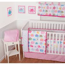 Girls Nursery Bedding Sets by Sumersault Elephant Parade 9 Piece Nursery In A Bag Crib Bedding