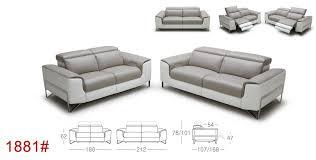 Italian Leather Recliner Sofa Divani Casa Begonia Modern Taupe Italian Leather Reclining Sofa Set