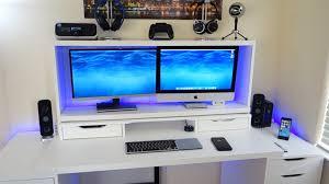 desk setup tour youtube idolza