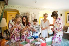 wedding dressing gowns floral dressing gowns for bridesmaids