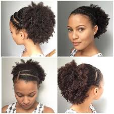 Wash And Go Styles For Transitioning Hair - flat twists and a puff on an old wash and go flattwist