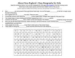 new england worksheet free earth science worksheets for kids