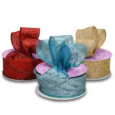 wired ribbon lamé glitter wired ribbon ribbons from paper mart